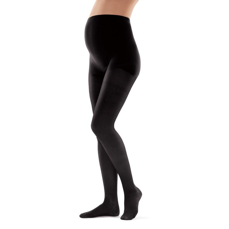 Колготки для беременных профилактические с микроттоном (компрессия 13-15 мм.рт.ст, 140 ден), закрытый носок, профилактика, цвет черный, размер 2