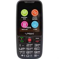 Телефон Sigma mobile Comfort 50 Elegance3 Black. Гарантия в Украине 1 год!
