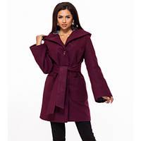 Пальто демисезонное с капюшоном кашемир размер 42 по 46