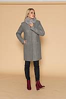 """Кэтти"" пальто зима шерсть меланж песец ( темно серый), фото 1"