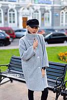 Женское стильное пальто букле новинка 2019