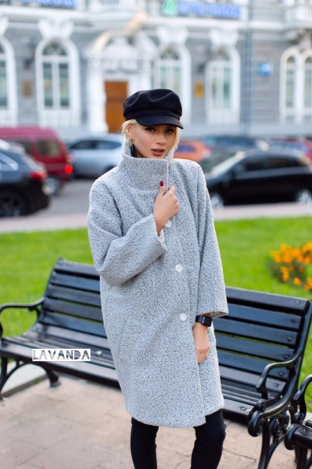 Женское стильное пальто букле