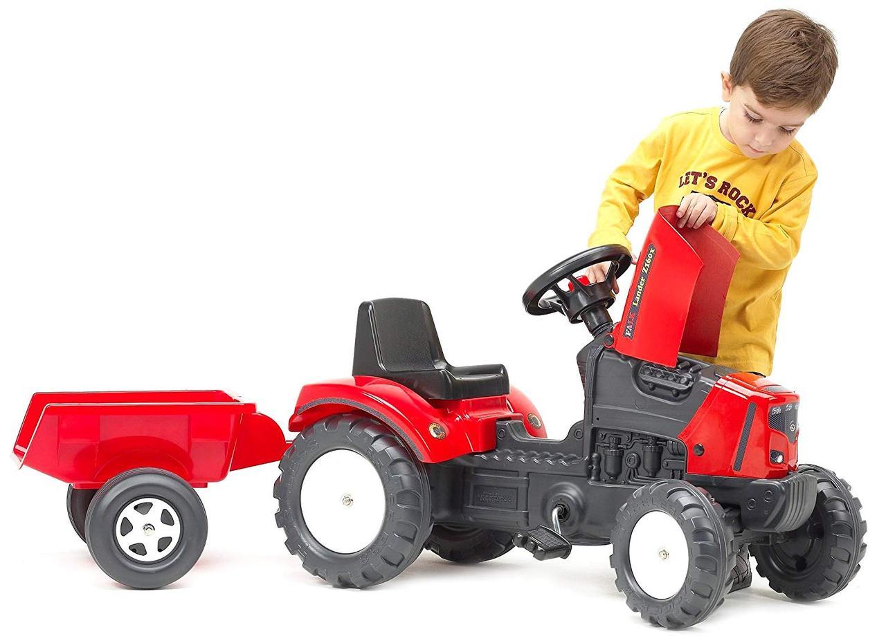 Трактор педальный с прицепом поднимается капот Lander Z160X Falk 2030AС