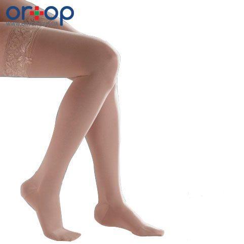 Чулки компрессионные Venoflex Kokoon удлиненные с закрытым носком, цвет бежевый