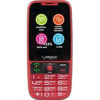 Телефон Sigma mobile Comfort 50 Elegance3 Red. Гарантия в Украине 1 год!