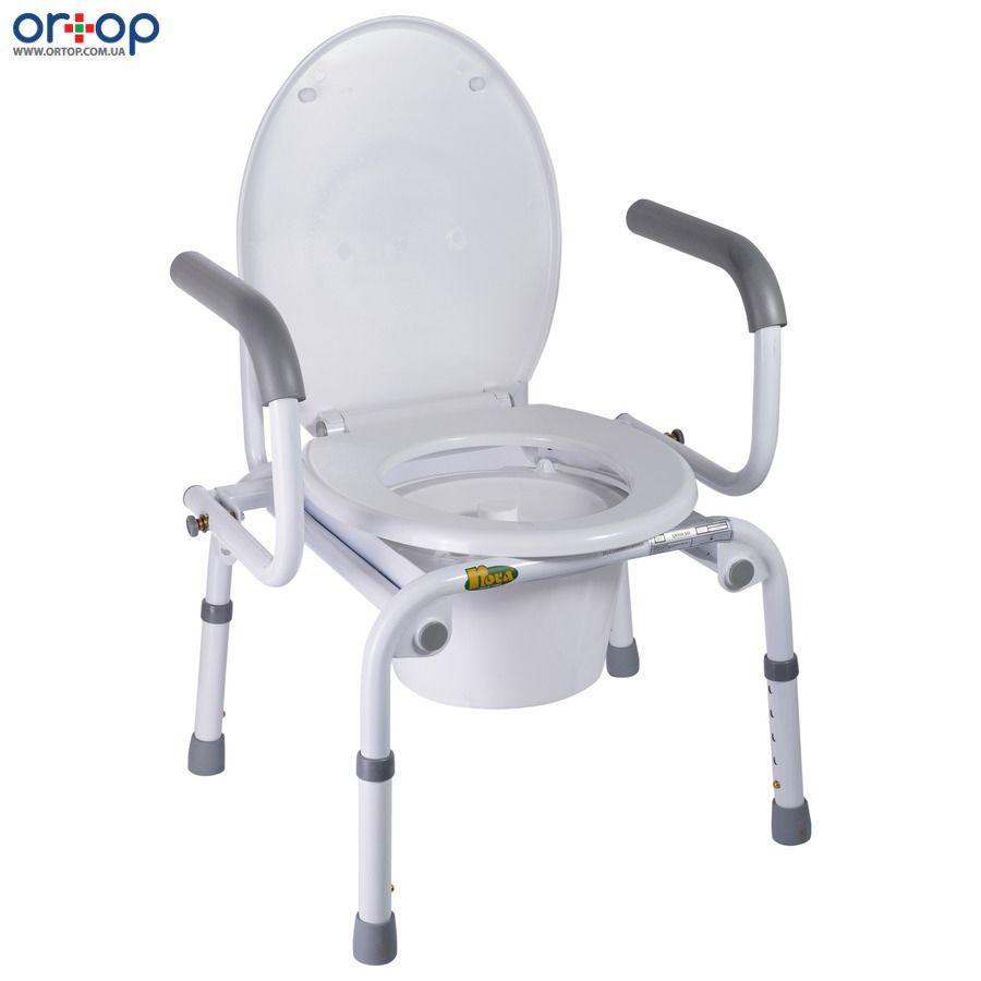 Кресло-туалет с откидными подлокотниками Nova