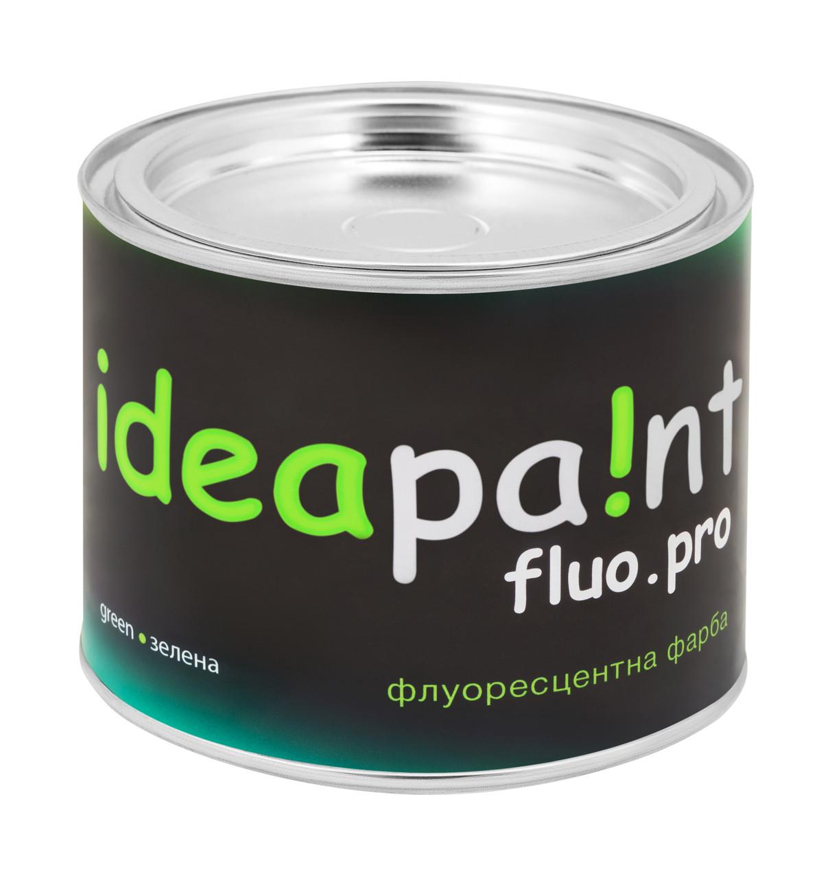 Флуоресцентная краска зеленая ideapaint  0,5 л.