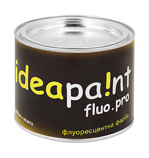 Флуоресцентная краска желтая ideapaint  0,5 л.