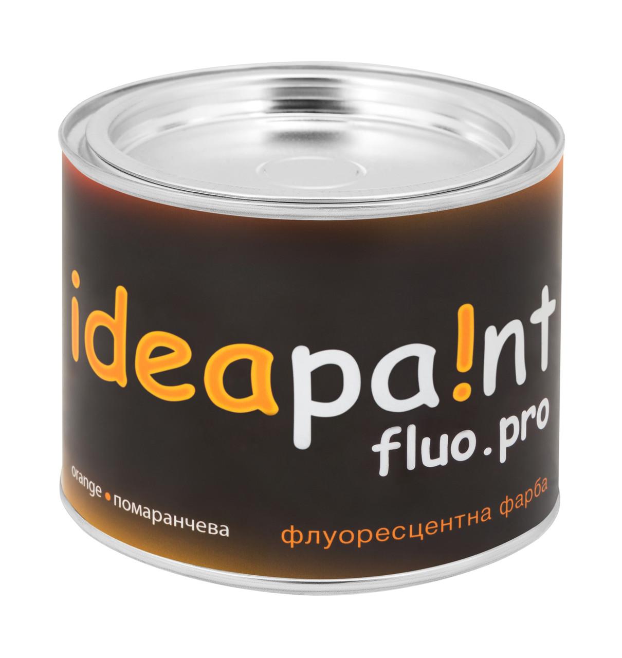 Флуоресцентная краска оранжевая ideapaint  0,5 л.