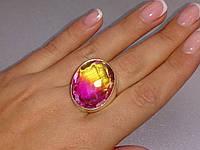 Кварц-топаз кольцо с турмалиновым кварцем в серебре 18,5 размер Индия, фото 1