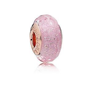 Шарм Pandora Pink Shimmering Murano Glass