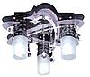 Люстра с подсветкой 81365/3BK+CR