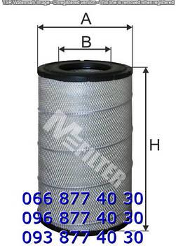 Фильтр воздушный DAF 95XF DAF1353115, 1664524, AF25623, C291366, C29