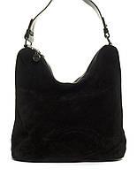 Вместительная стильная прочная модная качественная женская сумка с замшевой лицевой частью E.S.art. 891198
