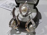 Комплекты ЖЕМЧУГ в серебре с золотом