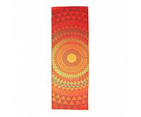 Разноцветное полотенце для йоги Bodhi Оранжевая сфера 183x61x0.1 см
