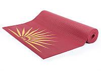 Коврик для йоги Bodhi Leela Sun Salutation 183x60x0.4 см
