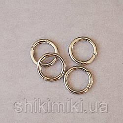 Кольцо-карабин КК01-1 (25 мм), цвет никель