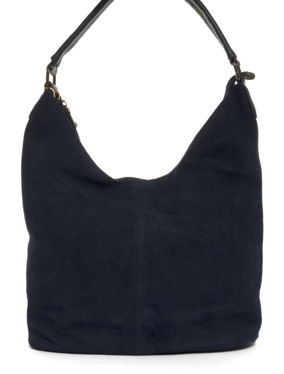 Вместительная стильная прочная модная качественная женская сумка с замшевой лицевой частью E.S. art. L-46