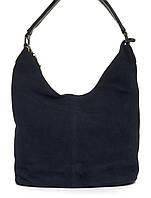 Вместительная стильная прочная модная качественная женская сумка с замшевой лицевой частью E.S.art. L-46