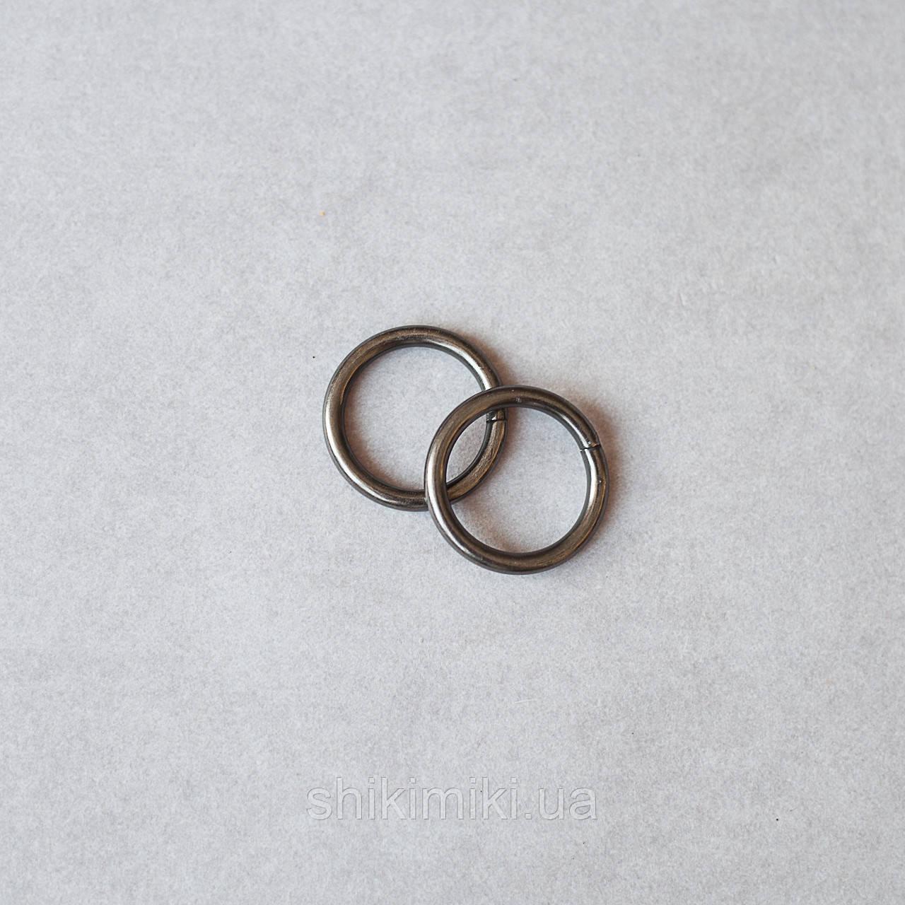 Кольца соединительные KL25-2 (25 мм), цвет черный никель