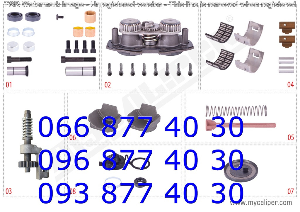 Ремкомплектт суппорта правый MERITOR ELSA2/195/225 (MCK1086) полный MAN TGA, RENAULT 420 new