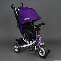 Велосипед трехколесный детский с ручкой Best Trike 6588 пена колеса фиолетовый
