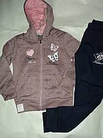 Утепленные Спортивные костюмы для девочки двойка