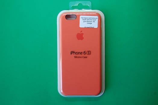 """""""Apple Silicone Case"""" для iPhone 6 / 6S Orange"""