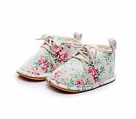 Утепленные ботинки пинетки на полиуретановой подошве., фото 1