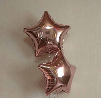 """Шар фольгированный звезда розовое золото 18"""" 45 см"""