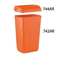 Корзина для мусора пластмассовая 23л COLORED+Крышка для урны
