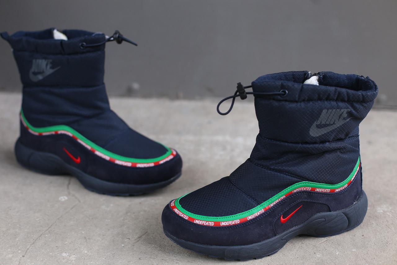 Ботинки зимние женские Nike синие