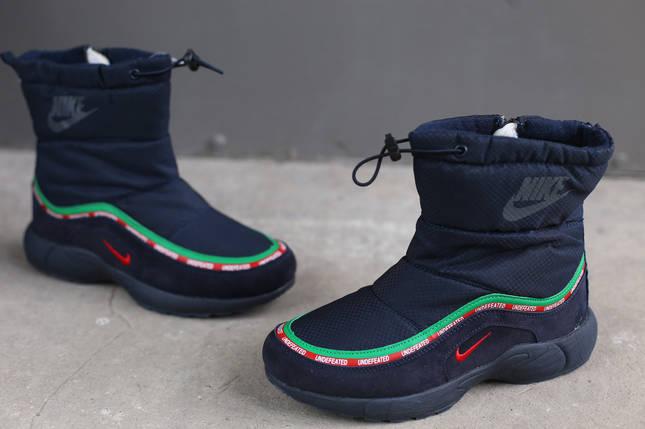 Ботинки зимние женские Nike синие, фото 2