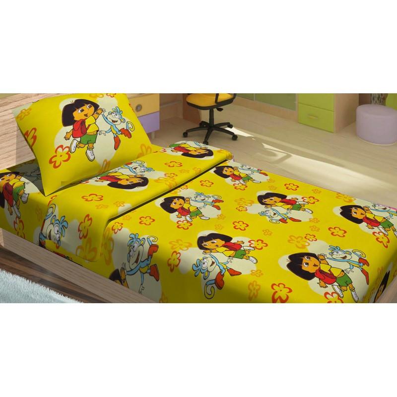 Постельное белье для подростков Lotus Young - Dora жёлтый ранфорс