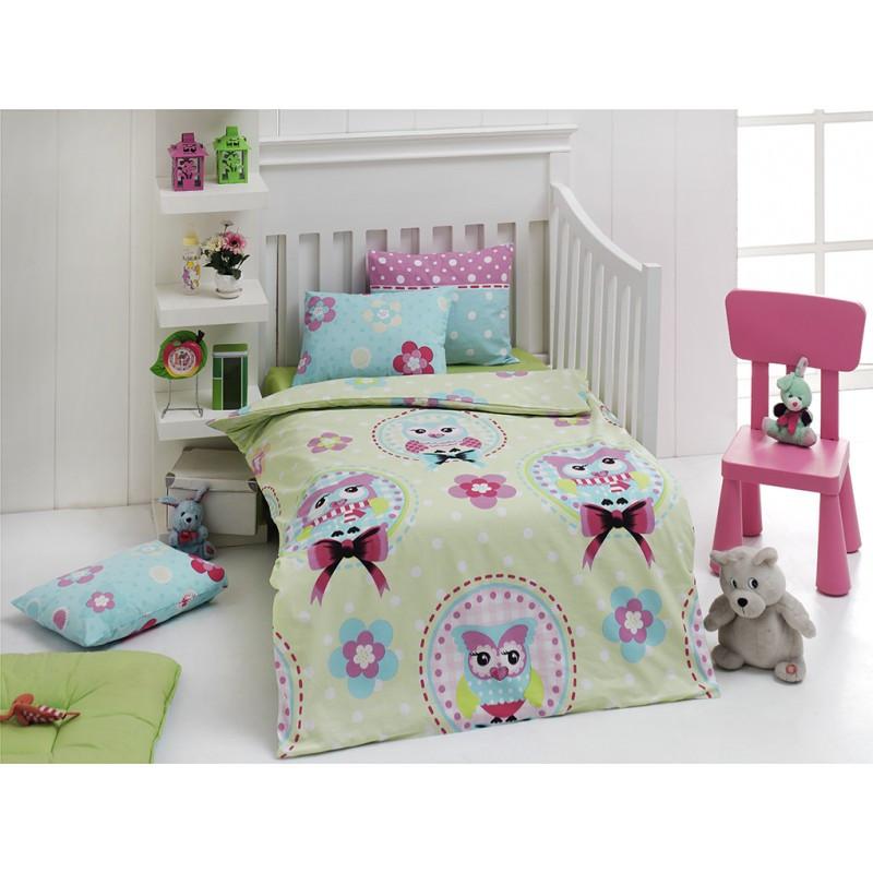 Детское постельное белье для младенцев Eponj Home - Baykus Yesil