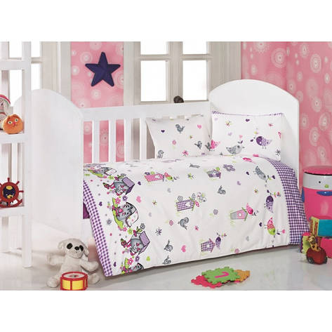 Детское постельное белье для младенцев Eponj Home - Kuslar Lila, фото 2