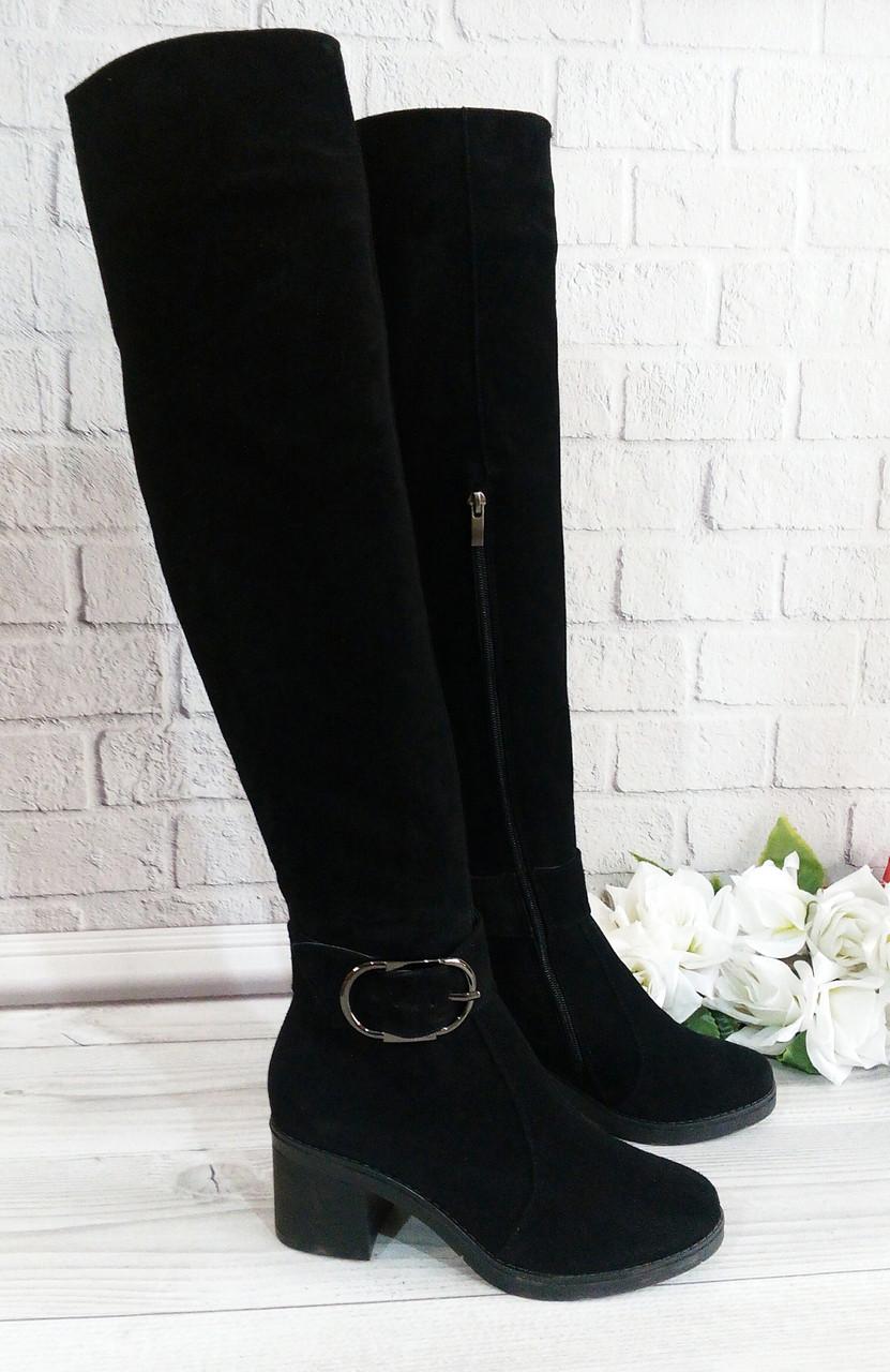 Ботфорти жіночі на підборах фабрична взуття