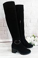 Ботфорти жіночі на підборах фабрична взуття, фото 1