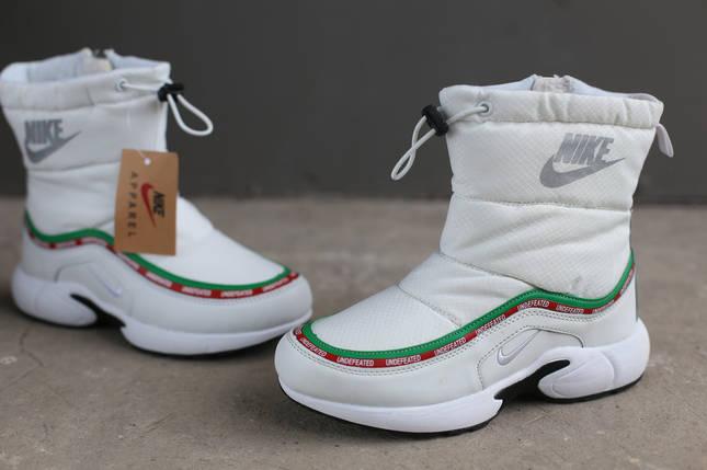 Ботинки зимние женские Nike белые, фото 2