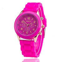 Женские наручные силиконовые часы Geneva pink