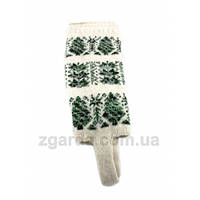 Гетры из ангоровой шерсти с зеленым орнаментом