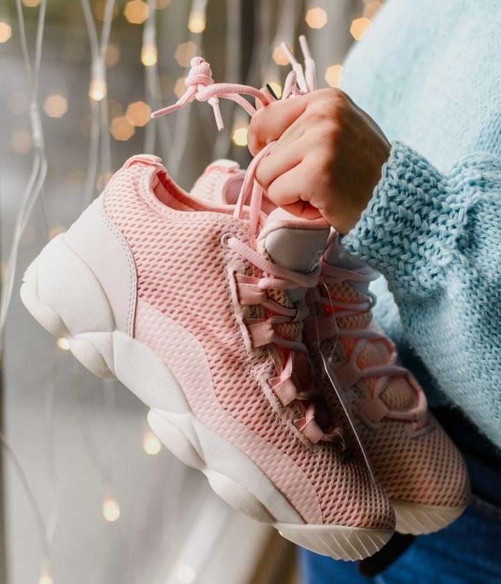 Женские кроссовки Fila Spaghetti Pink. Живое фото (Реплика ААА+)