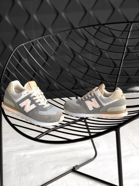 Женские кроссовки New Balance 574 Grey (Реплика ААА+) - Rocket Shoes -  Интернет f2d3691e0143a