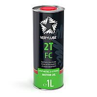 Масло моторное  для 2-х тактных двигателей VERYLUBE 2T FC (1L) ХВ 20178
