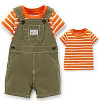Набор полукомбинезон и футболка для мальчика Carters оранжевый