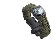 Браслет выживания Paracord compass green