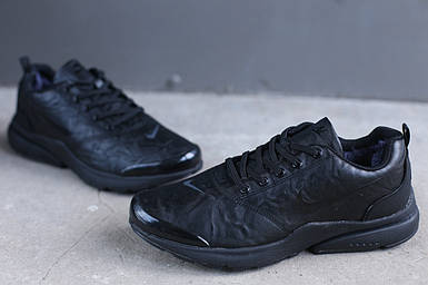 Мужские зимние кроссовки Nike черные