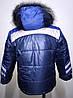 Детская курточка Зима две полоски рост 86-104, фото 3