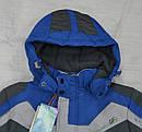 Куртка зимняя Snowboarding серо-голубая (QuadriFoglio, Польша), фото 2